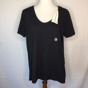 Lands End Womens Large 14/16 Charcoal Gray Lightho